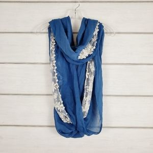 Collection XIIX Women's Infinity Loop Scarf Blue